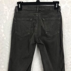 Jigsaw gray skinny brushed cotton soft jeans sz 0